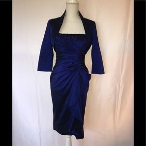 ADRIANNA PAPELL Sz 4 Royal Blue Cocktail Dress